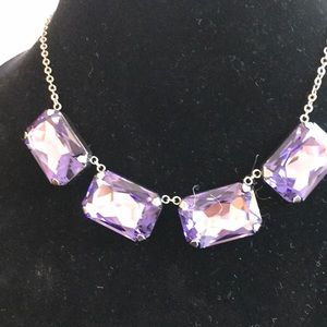 NWT Vivid purple necklace Touchstone Crystals